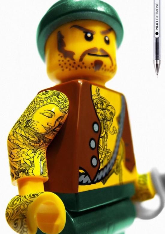 Pilot Lego Tattoo Ad Campaign | Camp Donuts