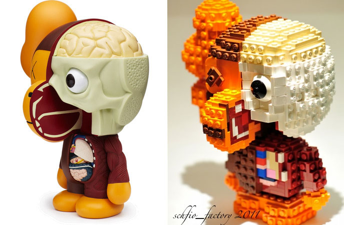Lego Kaws Dissected Baby Milo Companion Camp Donuts